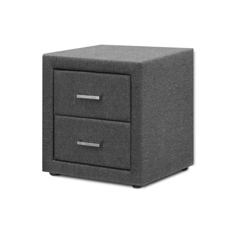 Nightstand Storage by Artiss Bedside Table 2 Drawers Nightstand Side Storage