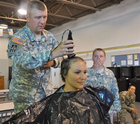 women hairstyles accepted in usmc dvids images indiana guardsman shaves head for cancer