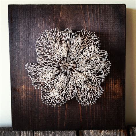 String On Wood - floral string ramble roost