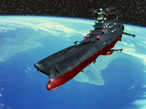 cartoon with boat in space space battleship yamato papercraft depapercraftblog