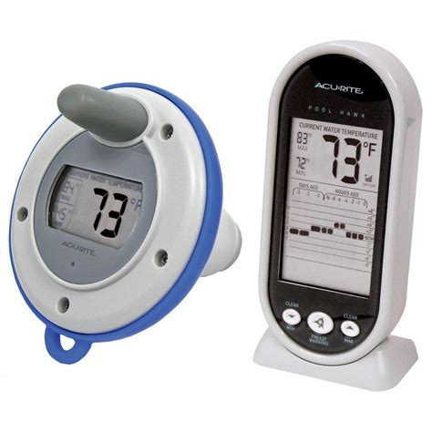 acurite wireless digital floating pool and spa thermometer 00617hdsba2 the home depot