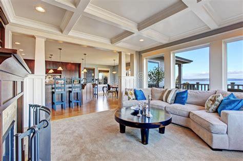 luxury open floor plans luxury house with open floor plan coffered ceiling