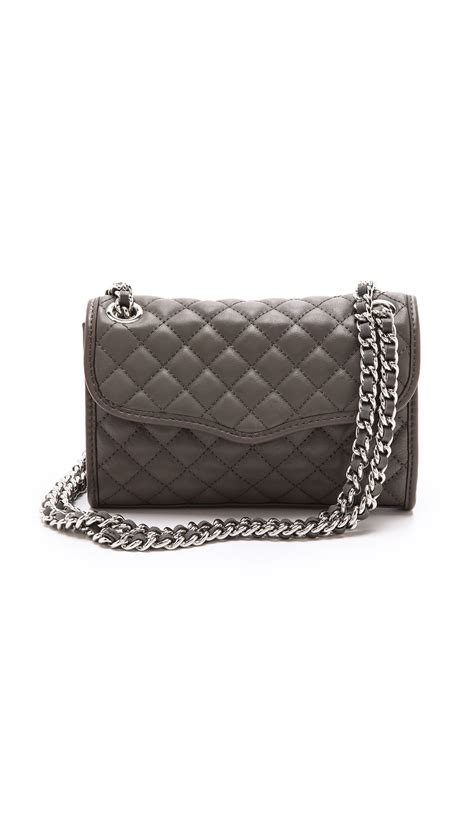 minkoff quilted mini affair bag in gray elephant