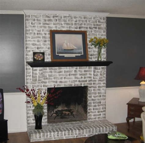Paint Colors For Brick Fireplace by The Color