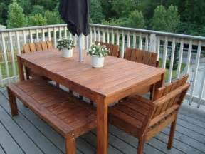 How To Make A Patio Table White Simple Outdoor Dining Table Diy Projects