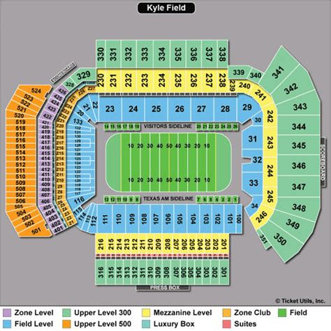 kyle field student section texas a m aggies tickets 2015 schedule ticketcity