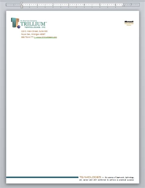 Official Letterhead Microsoft Word Creating Professional Looking Letterhead In Microsoft Word 2010 Marketing With Microsoft