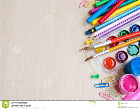 colorful office school supplies royalty free stock image office or school supplies royalty free stock photography