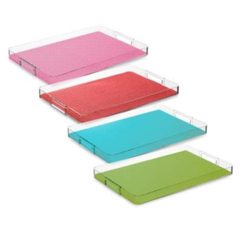 bed bath and beyond trays kraftware fishnet serving tray in brick