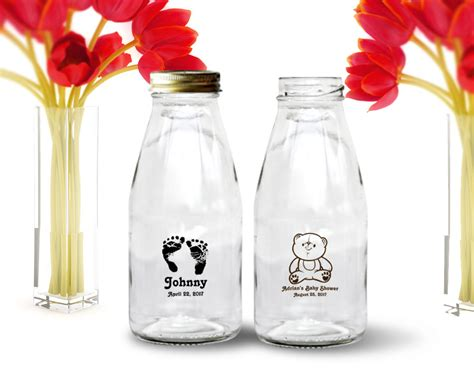 Baby Shower Bottles by 10oz Custom Printed Baby Shower Milk Bottles