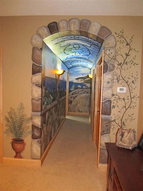 wall painting designs for hall italian hallway mural mediterranean hall minneapolis