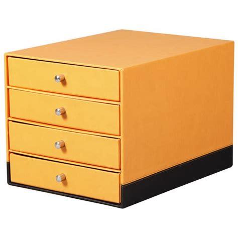 trieur tiroir trieur 4 tiroirs rhodia en simili cuir orange noir