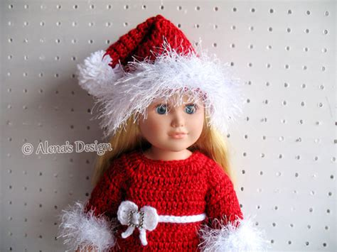 Patterns Christmas Dolls | crochet pattern 3 pc set for 18 inch doll christmas doll
