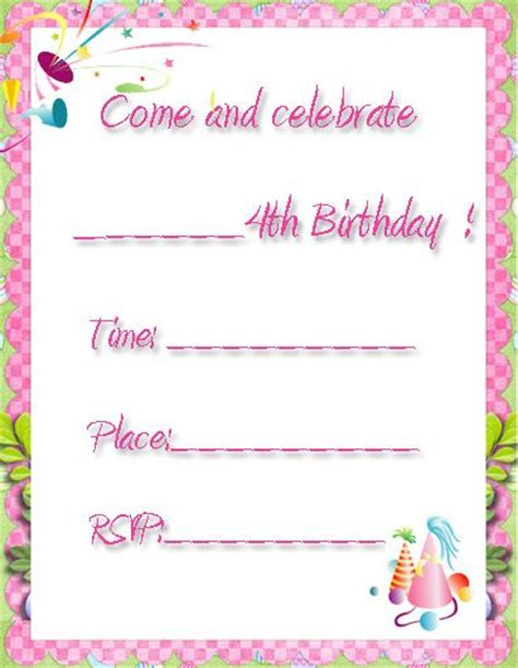 printableinvitationkits com 1000 images about printable birthday invatations on pinterest