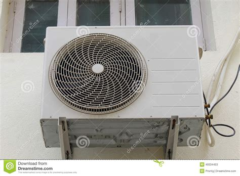 fan and air conditioner air conditioner outdoor unit stock image image 49334453