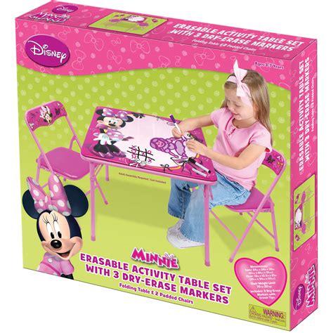 erasable table and chair set disney minnie mouse erasable activity table kids set 2