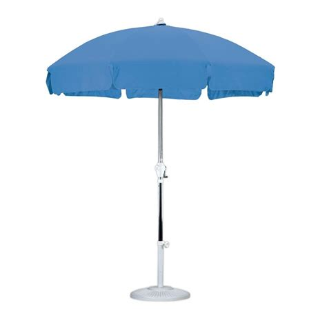 Tilting Patio Umbrella California Umbrella 7 1 2 Ft Fiberglass Push Tilt Patio