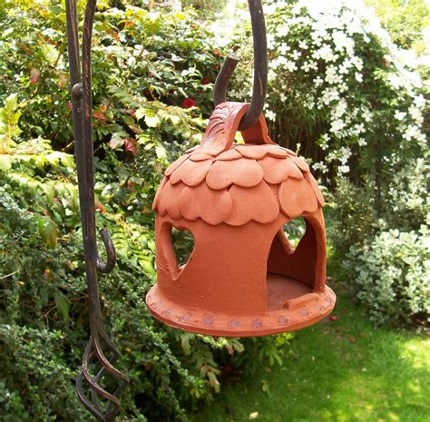 Handmade Bird Feeder - handmade terracotta bird feeder by brick house