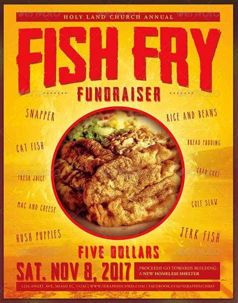 Fish Fry Flyer Powerpoint Template