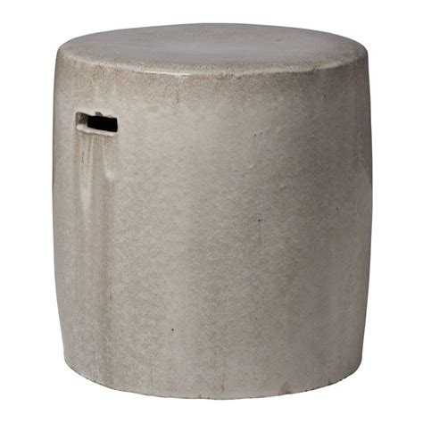 Garden Stools Side Tables by Glossy Gray Ceramic Garden Stool Side End Table