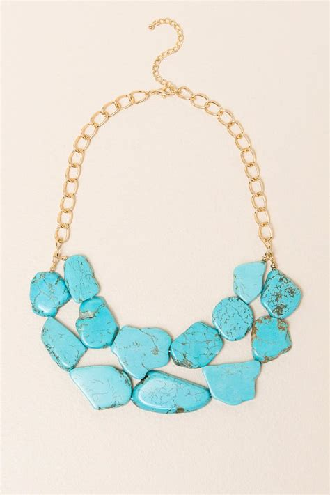 Turquoise Statement Necklace mandi turquoise statement necklace s