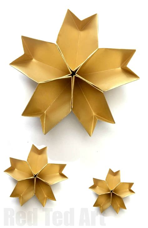 Origami New Year Decorations - 3d paper bowl easy origami ted s