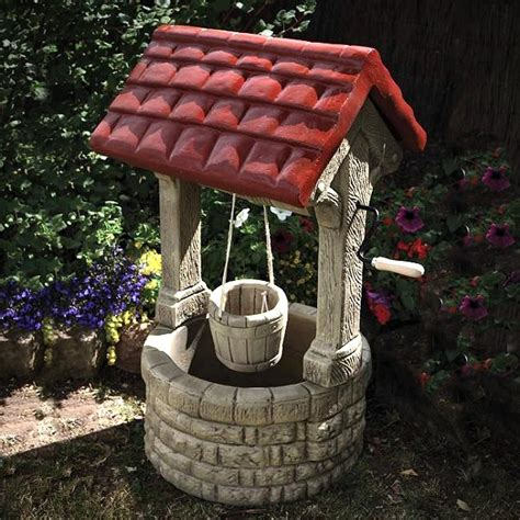 Home Made Decoration Pieces by Stone Garden Wishing Well