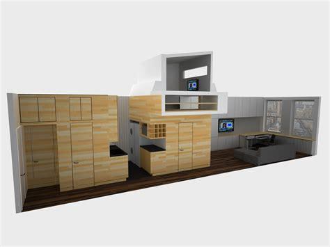 efficient studio layout space saving tiny apartment new york