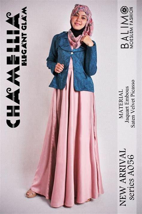 Gamis Pesta Top Maroon 0116 Gamis Syari Cantik balimo chamellia baju muslim gamis modern