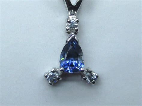benitoite necklace benitoite pendant necklace 14k white gold capistrano