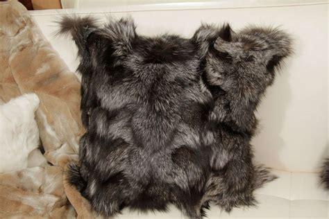 Fox Fur Pillow by Pillows Silver Fox Fur For Sale At 1stdibs
