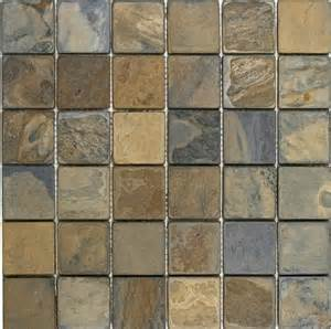 california rustic tumbled slate mosaic floor or wall tile