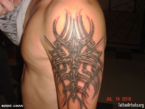 3d tribal tattoo 3d tribal arm artists org