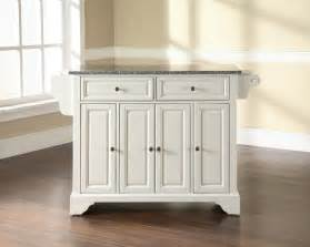 White Kitchen Island With Granite Top by Crosley Furniture Lafayette Solid Granite Top Kitchen