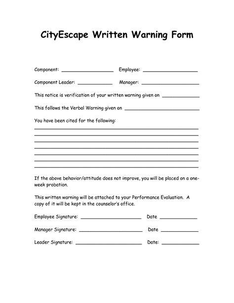 checklist progressive discipline template sample form biztree com