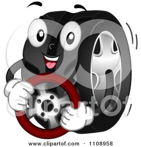 clipart happy automotive tire mascot royalty  vector illustration  bnp design studio