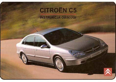 Manual Citroen C5 Citroen C5 I 1 Instrukcja Page Pdf