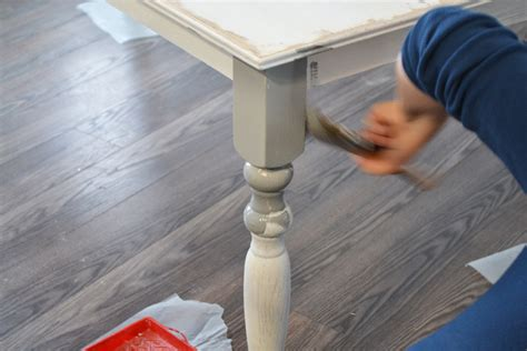 chalk paint kitchen table diy upcycle the diy