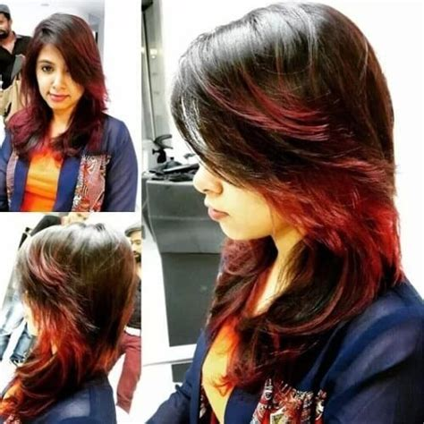 Feather Cut Hairstyle by Feather Cut With Highlights For Indian Indian