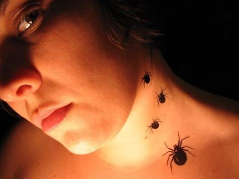 neck tattoo spider 49 cool spider neck tattoos