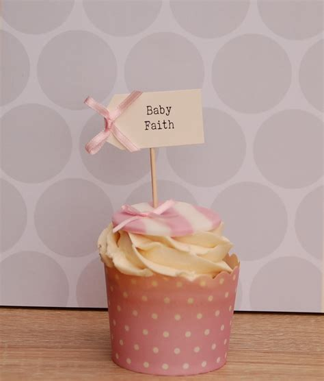 Baby Shower Name by Personalised Baby Shower Cupcake Toppers Vintage Twee