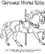 crayola coloring pages horses cheval du carousel crayola fr