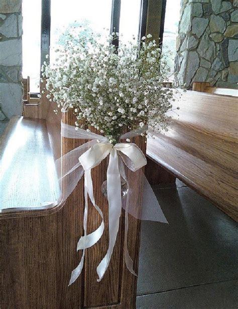 Church Pew Wedding Decorations by Creative Church Wedding Decorations Easyday