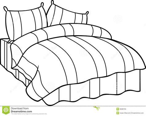 Bett Zeichnung by Bett Vektor Abbildung Illustration Abbildung