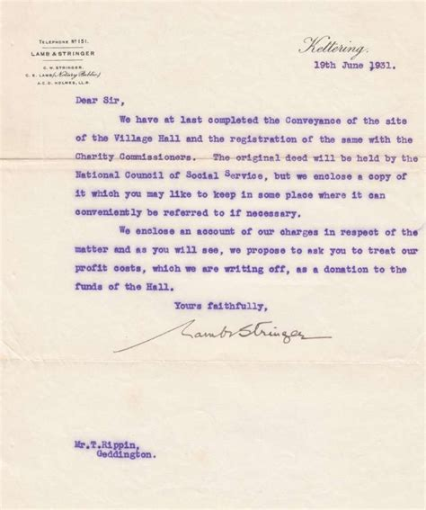 charity commission letter geddington geddington net