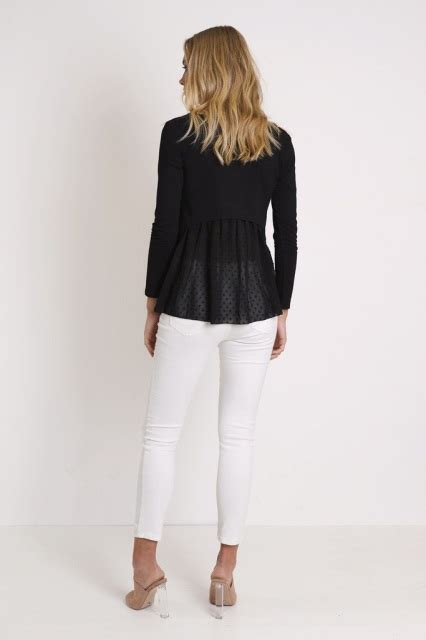 Ready Stock New Arrival Fashion Serenna Cassualy Leather B212 twilight top