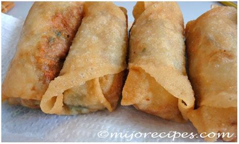 new year rolls recipe traditional flats and egg rolls on
