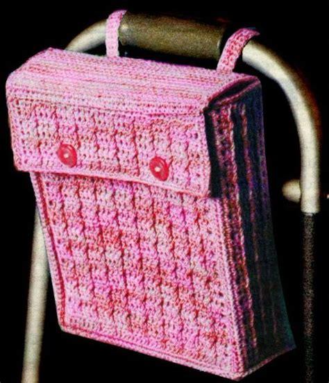 crochet walker bag pattern walker wheelchair bag bill thomas senior moments in