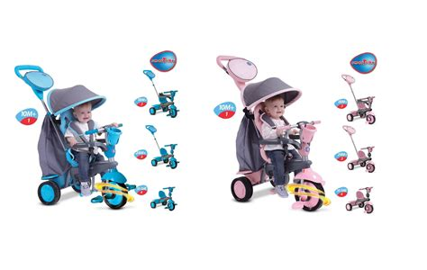 smart trike swing mookie smart trike swing trike pink grey or blue grey 4 in