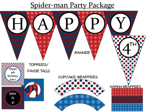 printable spiderman birthday banner chandeliers pendant lights